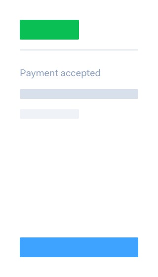 SOFORT confirmation page in payment flow