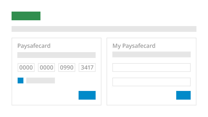 paysafecard confirmation screen