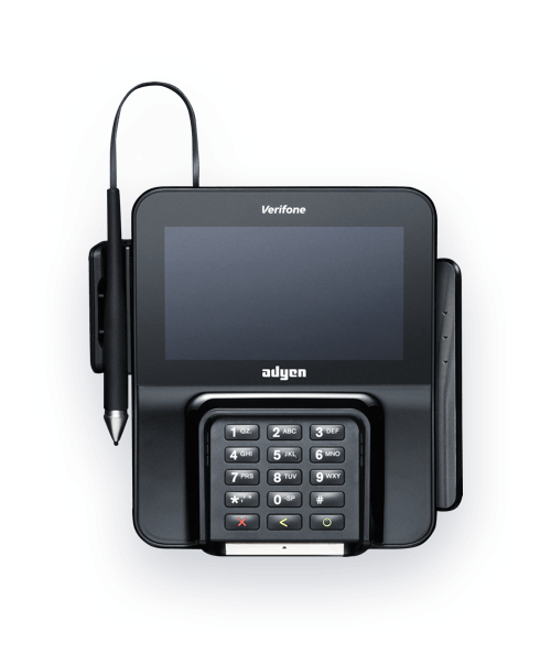 Terminal multimédia Adyen M400 pour point de vente