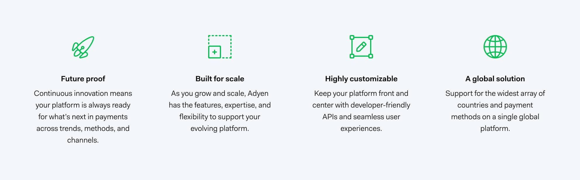 Reasons to chose Adyen for payments