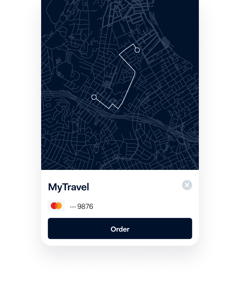 Travel app screenshot