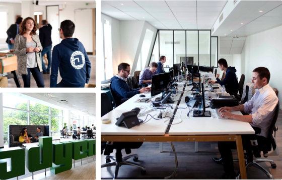 People working in Adyen offices