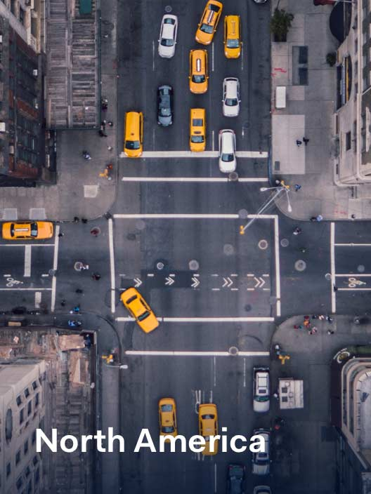 Birdseye view of new york street