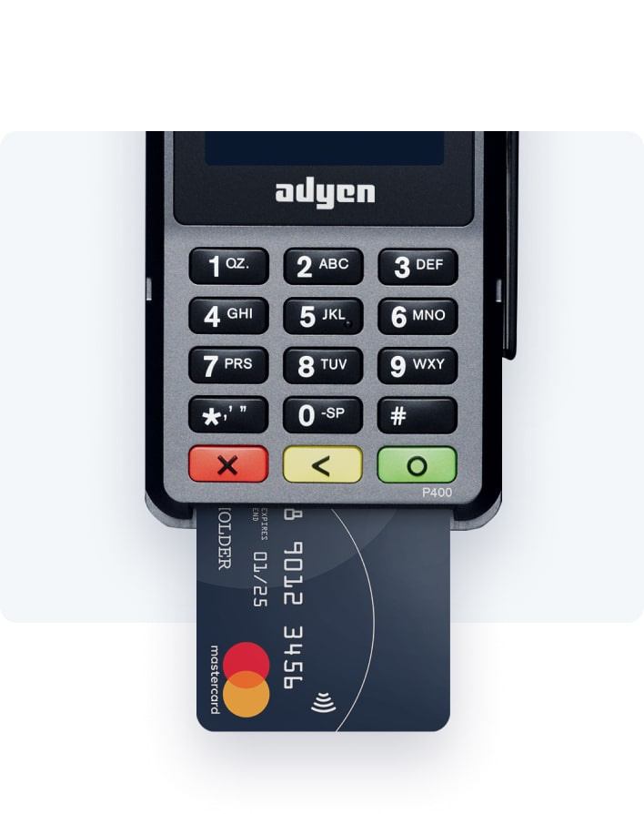 Credit card in terminal to pre-authorize a payment