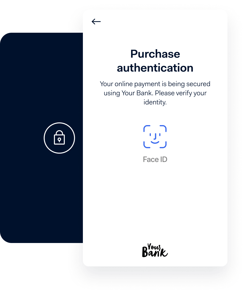 Payment authentication checkout screen