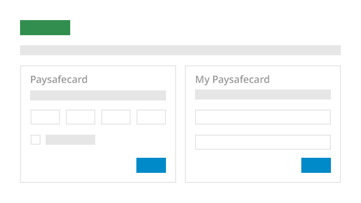 paysafecard Pay with PIN and password screen
