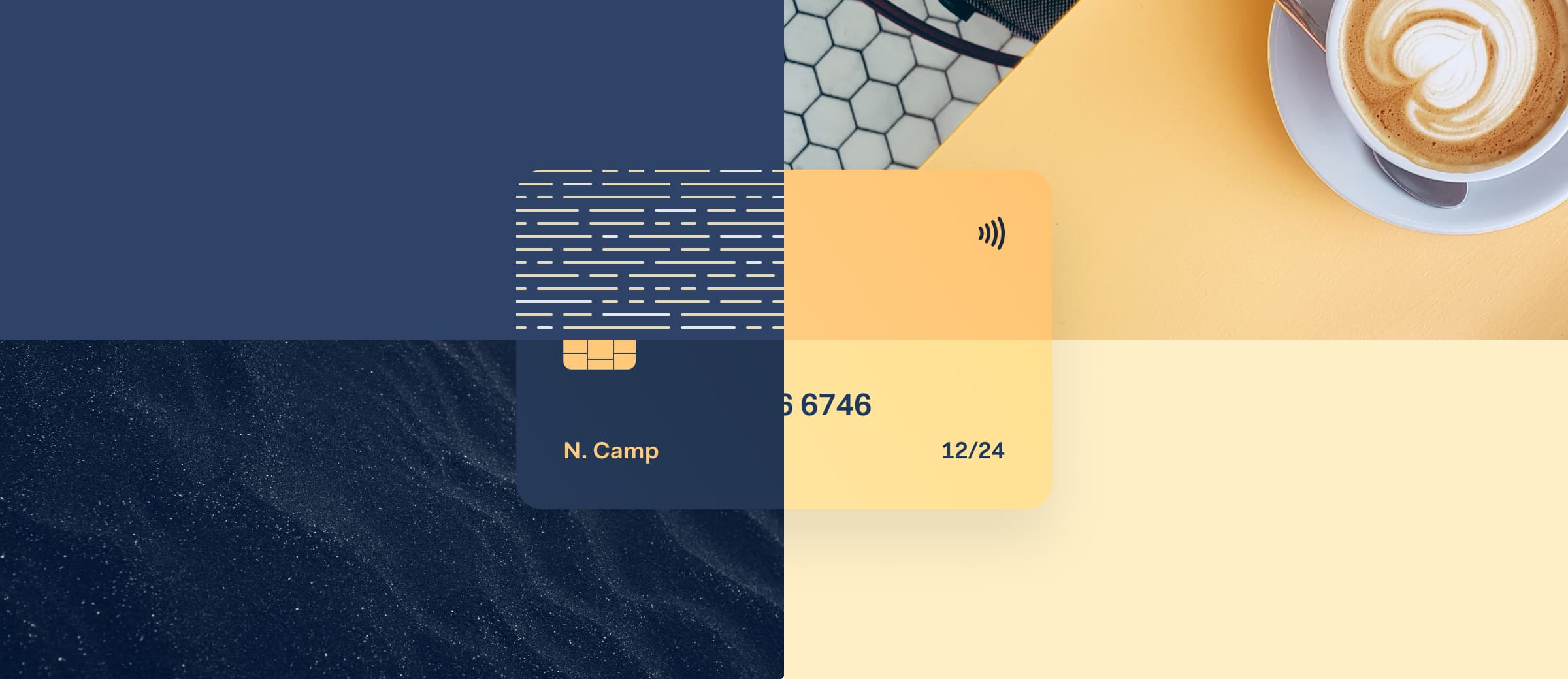 Physical payment card with different types of branding