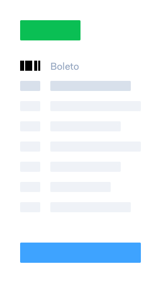 Select Boleto page mobile payment flow