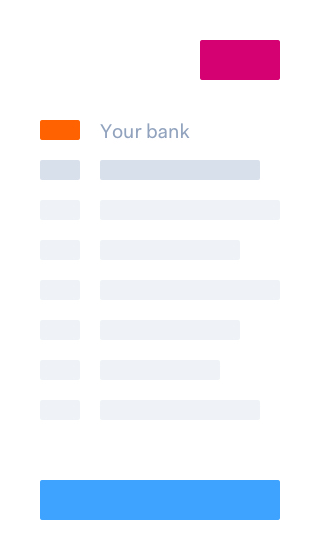 Select bank page in iDeal mobile payment flow